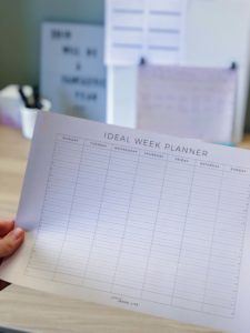 The Ideal Week Planner - with a section for notes at the bottom - a free printable from ForeverGoodLife
