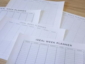 All the different versions of the free Ideal Week Planner - WIP - A free printable from ForeverGoodLife