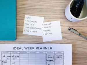 Working on the Ideal Week - Planning mode - The Wants and Musts that need to get on that planner - Free Ideal Week Planner printable from ForeverGoodLife