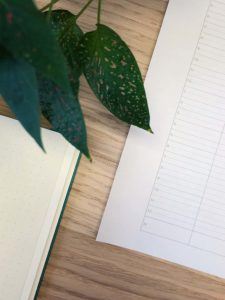 Close up of the Ideal Week Planner Freebie from ForeverGoodLife - A place to put notes for the day