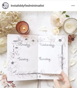 18 dutch door ideas for your Bullet Journal - to see all go to ForeverGoodLife.com - this one is by instaliddyfiedminimalist