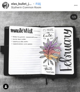 18 dutch door ideas for your Bullet Journal - to see all go to ForeverGoodLife.com - this one is by elas_bullet_journey