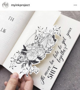 18 dutch door ideas for your Bullet Journal - to see all go to ForeverGoodLife.com - this one is by myinkproject