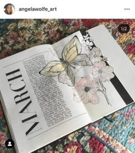 18 dutch door ideas for your Bullet Journal - to see all go to ForeverGoodLife.com - this one is by angelawolfe_art