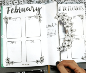 18 dutch door ideas for your Bullet Journal - to see all go to ForeverGoodLife.com - this one is by apfelzimtmuffin_
