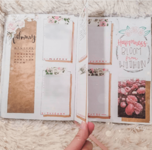 18 dutch door ideas for your Bullet Journal - to see all go to ForeverGoodLife.com - this one is by lovelyheys