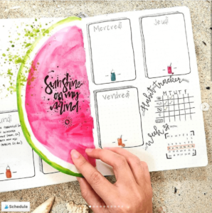 18 dutch door ideas for your Bullet Journal - to see all go to ForeverGoodLife.com - this one is by sea_journal