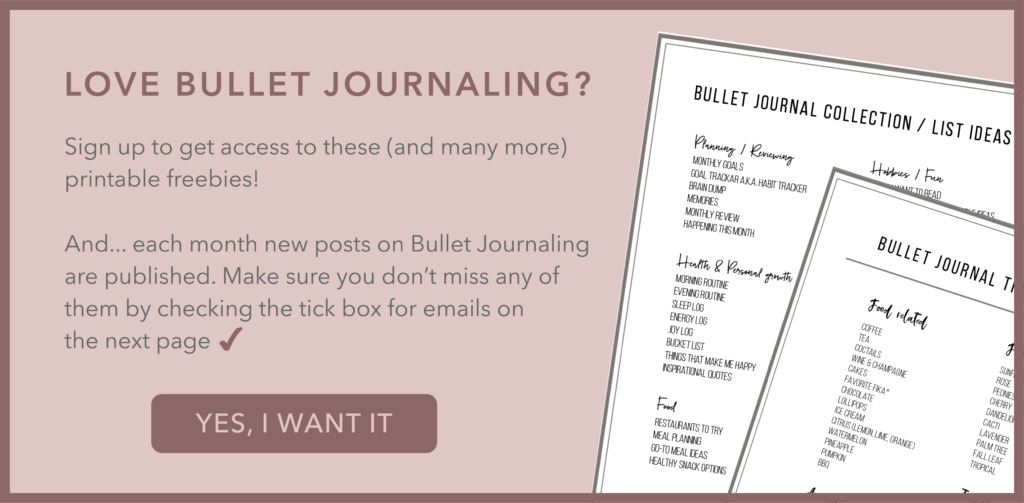 Get access to Bullet Journaling freebies and get notified when new inspirational posts are added to the blog